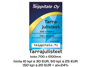 Tarrajulisteet 700 x 1000 mm
